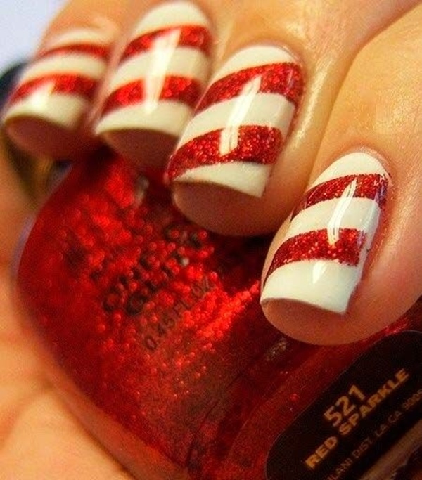 Creative Christmas Holiday Nail Art | Fashionte