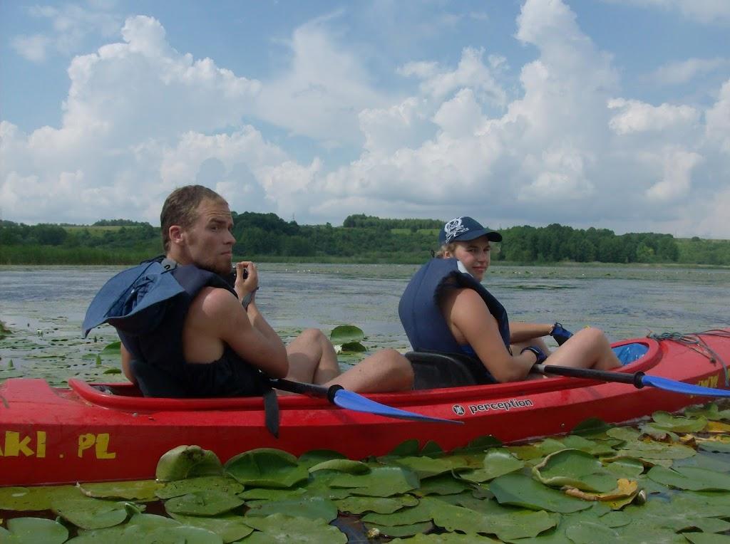 Jowita i Adam na jeziorze Kiermaz.