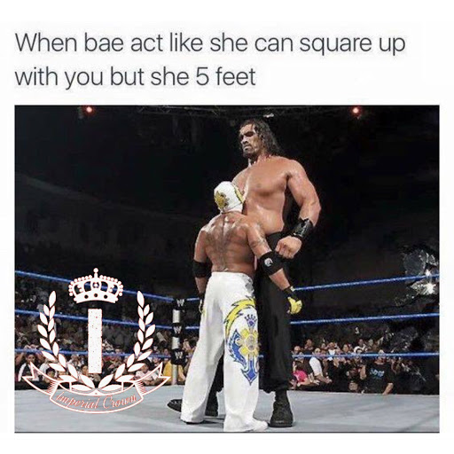 when bae act like she can square up ….