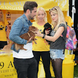 WWW.ENTSIMAGES.COM -     Matt Johnson, Pola Pospieszalska and Ashley James   at        Pup Aid at Primrose Hill, London September 6th 2014Puppy Parade and fun dog show to raise awareness of the UK's cruel puppy farming trade. Pup Aid, the anti-puppy farming campaign started by TV Vet Marc Abraham, are calling on all animal lovers to contact their MP to support the debate on the sale of puppies and kittens in pet shops. Puppies & Celebrities Return To Fun Dog Show Fighting Cruel Puppy Farming Industry.                                              Photo Mobis Photos/OIC 0203 174 1069