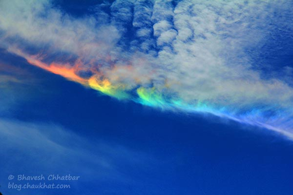 Circumhorizontal Arc, Circumhorizon Arc, Lower Symmetric 46° Plate Arc, Fire Rainbow