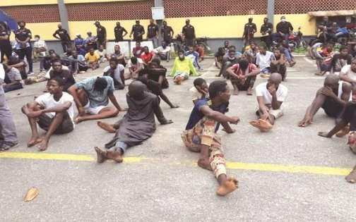 NICE ONE! 400 Suspected Robbers, Kidnappers Arrested In Lagos