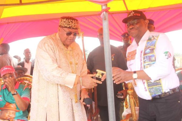 Wike makes history as first governor to drive into Opobo Kingdom