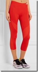Nike Pro orange mesh panelled leggings
