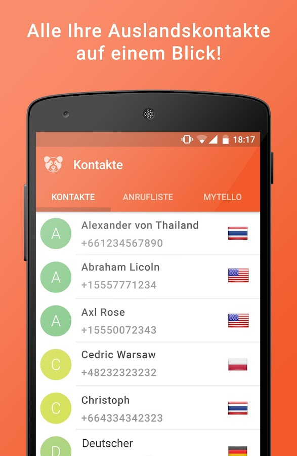 mytello - international calls- screenshot