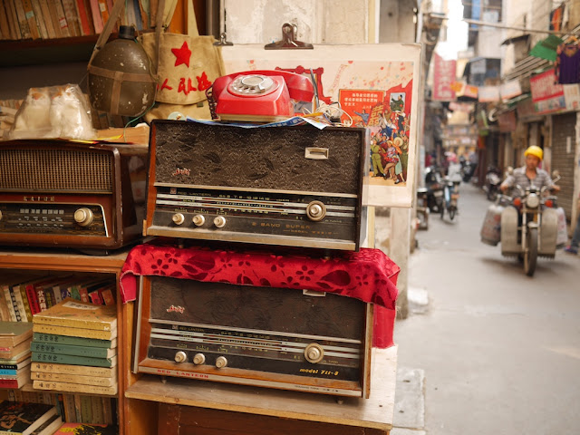 old radios for sale at The Nostalgia Book Room