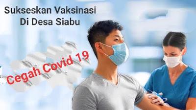 Cegah Covid 19, Pustu Desa Siabu Adakan Vaksinasi Untuk Masyarakat
