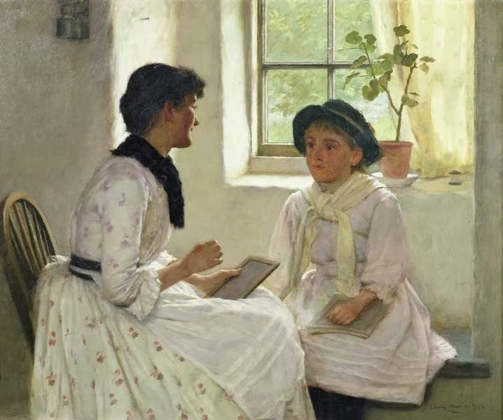 Edwin Harris - The Lesson, 1889