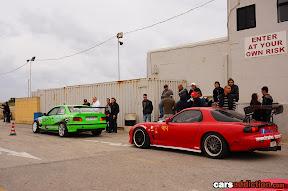 Drift cars queuing up