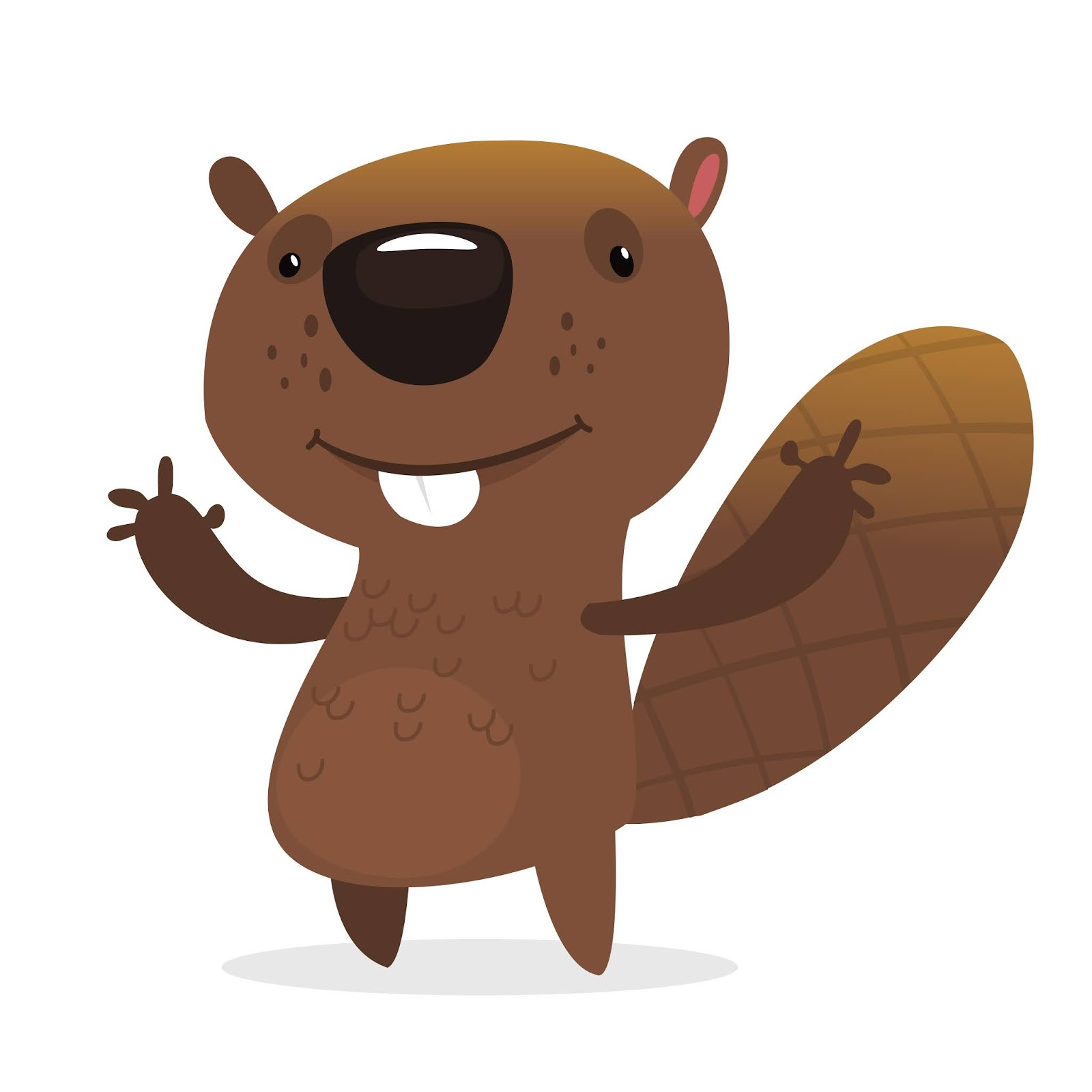Cartoon Beaver Illustration Free Download Vector CDR, AI, EPS and PNG Formats