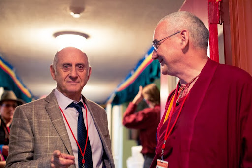 Nick Ribush, director of Lama Yeshe Wisdom Archive, and Ven. Roger Kunsang, president and CEO of FPMT, Kurukulla Center, Medford, Massachusetts, U.S., October 2012. Photo by Kadri Kurgun.