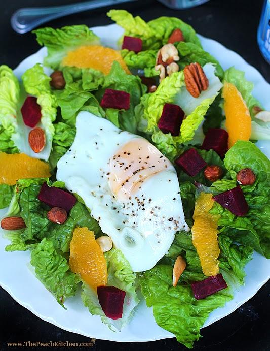 Breakfast Salad   www.thepeachkitchen.com