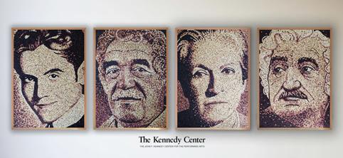 retratos de Scott Gundersen, en el Centro Jhon F. Kennedy
