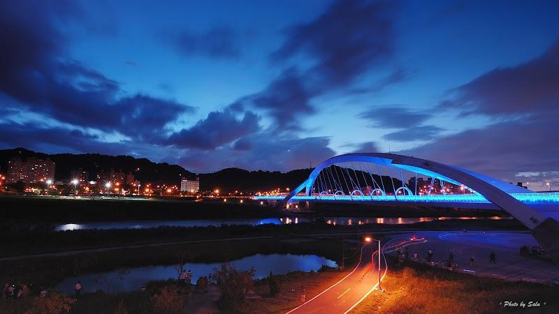 新北 新店 陽光橋 夜景 攝