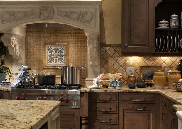 Beautiful brown kitchen pantry cabinet design