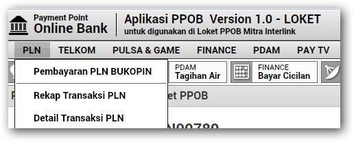 Cek transaksi PLN ppob bukopin interlink