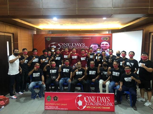 SIWO PWI Kalteng Gelar Coaching Clinic Sepakbola