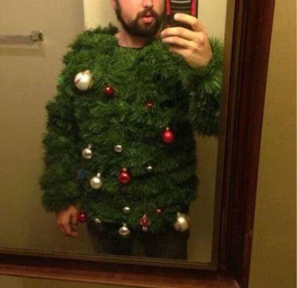 Jersey con forma de árbol de Navidad
