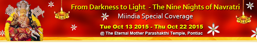 Michigan Parashakthi Temple Navaratri Specials 2015