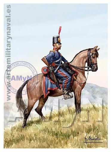 Regimiento 2º Ligeros. Pavía 1838