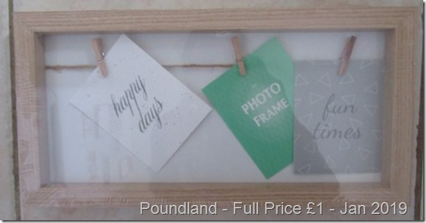 Poundland Peg Photo frame