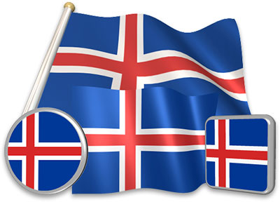 Icelandic flag animated gif collection