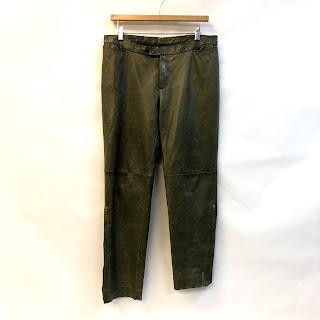 "Costume National 34"" Waist Leather Pants"