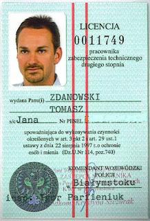 Licencja pracownika zabezpieczenia technicznego drugiego stopnia