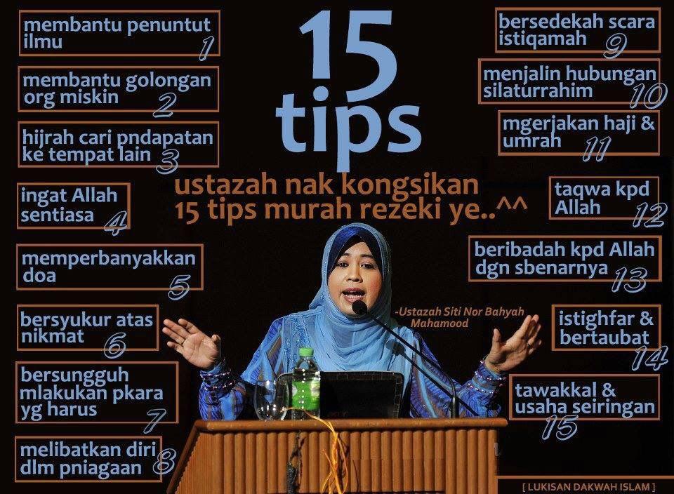 15 tips murah rezeki.