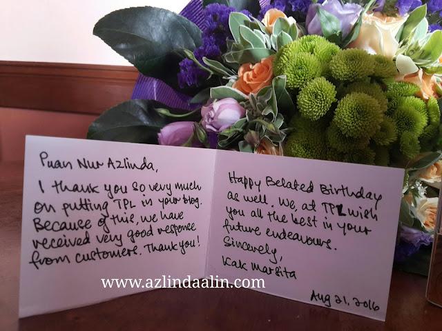 Review Pengiklanan di Blog Azlinda Alin Membantu Carian Google Untuk Kedai Bunga Fresh Flower The Purple Lavender