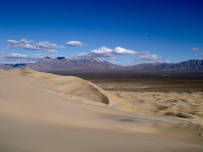 Photo: Meanwhile, V keeps climbing the easternmost dune.
