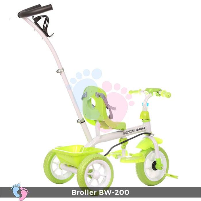 Xe đạp 3 bánh Broller XD3-200 có cây đẩy 6