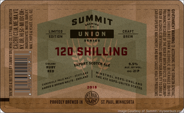 Summit Brewing - 120 Shilling Coming To Union Series In Nov