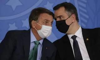 Bolsonaro critica Pacheco por rejeitar pedido de impeachment contra Moraes