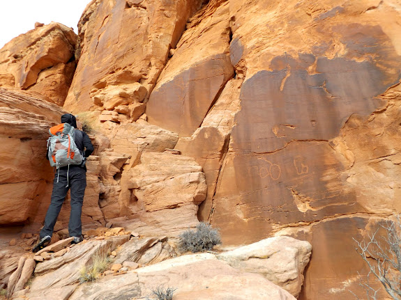 The first petroglyphs we encountered