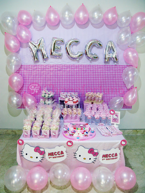 Dessert Table Mecca Hello Kitty Ultah Birthday Ulangtahun Ulang Tahun