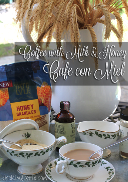 Cafe de Miel: Coffee with Milk and Honey.  A spanish and french coffee house speciality, with the perfect blance of rich creamy sweetness