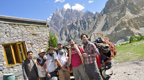 Group photo with Mr. Zaffar and his friends before leaving Passu.