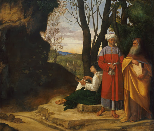 Giorgione: The Three Philosophers. From The Museum of Fine Arts Houston Cloaked in Magnificent Opulence