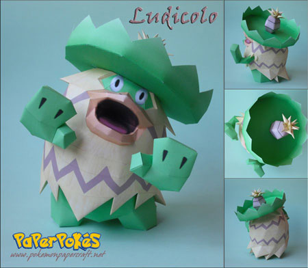 Pokemon Ludicolo Papercraft