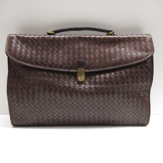 Bottega Veneta Vintage Fold-Over Envelope Brief Case