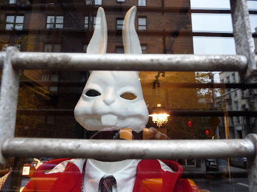 Every Brooks Brothers mannequin wore this mask.  Cute or creepy?