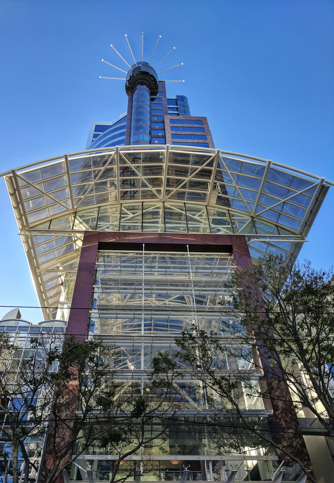 The Majestic Centre (Wellington, NZ) as seen looking up whilst standing on Willis Street