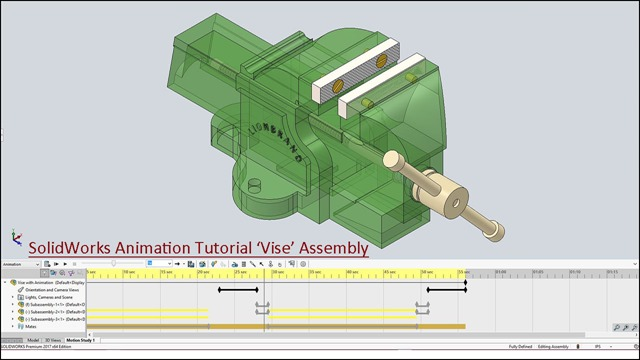 SolidWorks Animation Tutorial 'Vise' Assembly_2