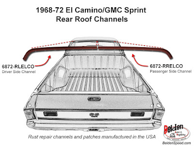 rear window rust repair,window channel patch panels,Chevelle,Monte Carlo,GTO,LeMans,Tempest,Cutlass,Camaro,Firebird,Beldenspeed,Belden Speed & Engineering,F Body,A Body,Skylark,El Camino