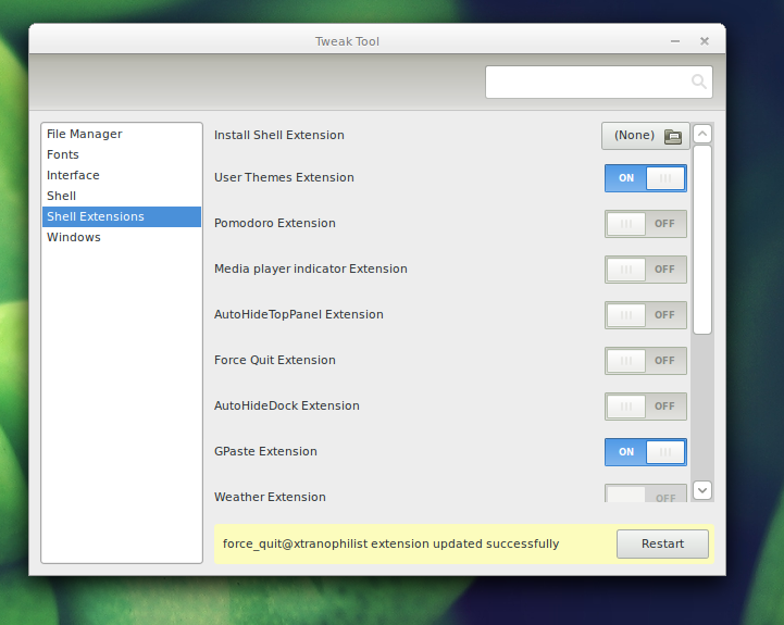How to install a gnome shell extension fedora magazine.