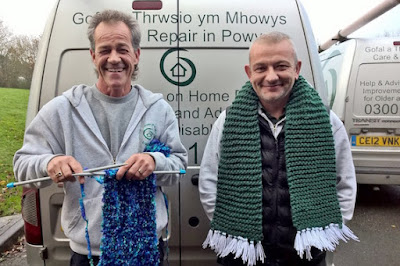 Local Care and Repair staff get knitting