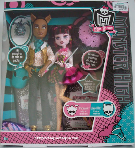 Monster High - Draculaura y Clawd Wolf en su caja