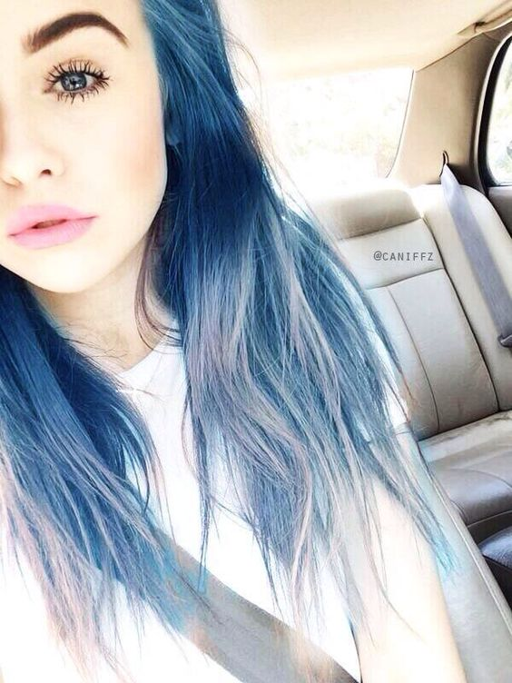 Blue Hairstyles For long Hair-It Is Different 2017 8