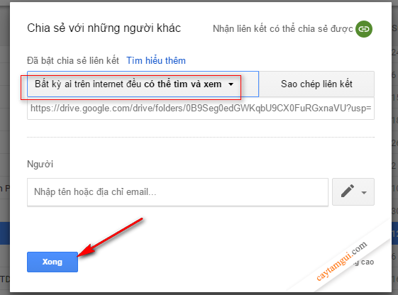 Hướng dẫn cách lấy Direct Link Google Drive